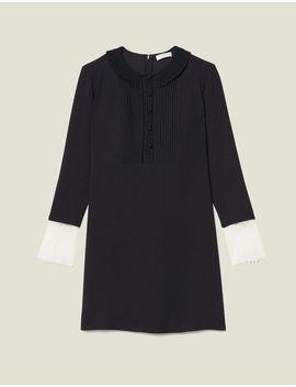 Long Sleeved Short Dress by Sandro Paris