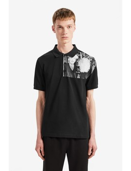 Raf Simons Piqué Shirt Mit Schulter Print by Fred Perry