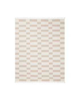 The Emily & Meritt Recycled Material Ticking Striped Rug   Khaki by Pottery Barn