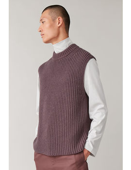 Knitted Cotton Wool Vest by Cos