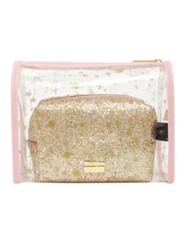 Skinnydip Astrology & Gold Make Up Bag & Washbag Set by Superdrug