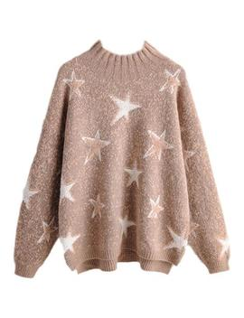 'elaine' Star Print Crewneck Sweater (2 Colors) by Goodnight Macaroon
