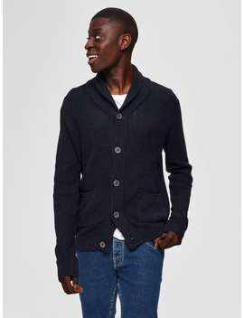 Shawl Neck   Knitted Cardigan Shawl Neck   Knitted Cardigan  3010   Slim Fit Jeans  Crepe Sole   Derby Shoes by Selected
