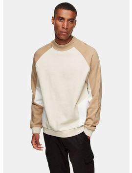 Ecru And Stone Panel Sweatshirt by Topman