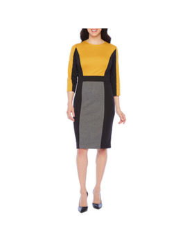 London Style 3/4 Sleeve Sheath Dress by London Style