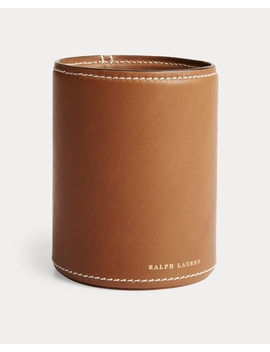 Brennan Leather Pencil Cup by Ralph Lauren