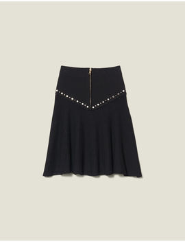 Flared Knit Skirt With Zip by Sandro Eshop