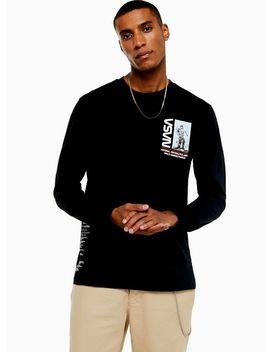 Black Long Sleeve Nasa T Shirt by Topman
