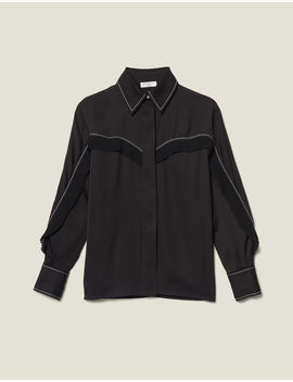 Shirt With Western Details by Sandro Eshop