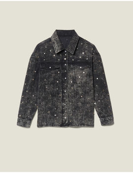 Denim Shirt Trimmed With Studs by Sandro Eshop