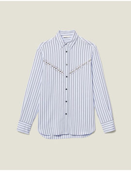 Striped Poplin Shirt by Sandro Eshop