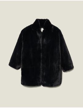 Faux Fur Coat by Sandro Eshop