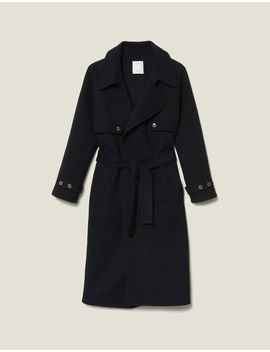 Double Sided Wool Trench Coat by Sandro Eshop