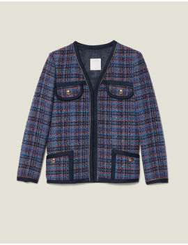 checked-tweed-jacket by sandro-eshop