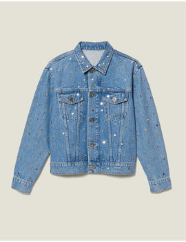 Denim Jacket Trimmed With Studs by Sandro Eshop