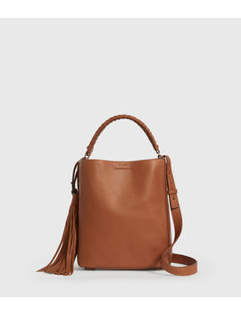 Shirley Small North South Leather Tote Bag by Allsaints