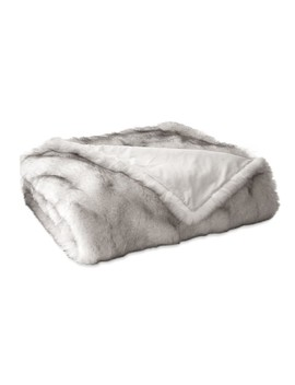 """Siberian Wolf Oversized Faux Fur Throw, 60"""" X 80"""" by Williams   Sonoma"""