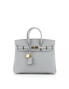 Birkin 25 Leather Handbag by Hermès