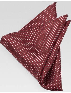 Joseph Abboud Red Dot Pocket Silk by Joseph Abboud