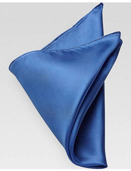 Men's Wearhouse French Blue Pocket Square by Men's Wearhouse