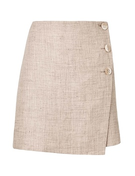 Button Detail Mini Skirt by Witchery