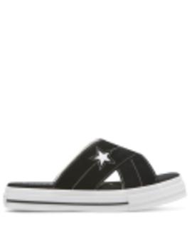 One Star Sandal Slip Black/Egret by Converse