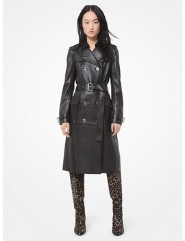 Leather Trench Coat by Michael Michael Kors