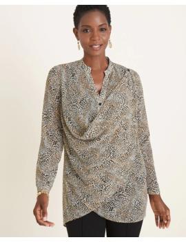 Convertible Cheetah Print Shirt by Chico's