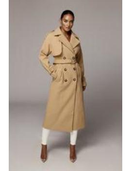 Tan Beverly Trench Coat by Jluxlabel