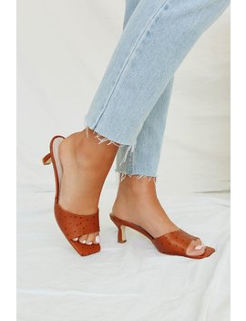 Retro Vibe Mules // Tan by Vergegirl