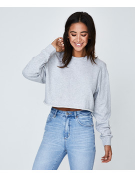 Cropped Jumper Grey Marle by Au