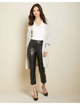 High Waist Cropped Straight Leg Faux Leather Legging Pant by Rw & Co