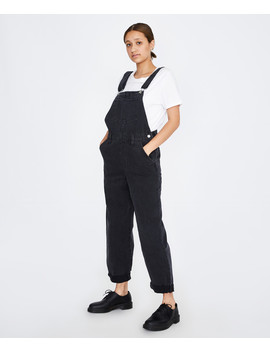 Baggy Denim Overall Cut Loose Black by Au
