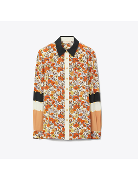 Patchwork Stud Shirt by Tory Burch