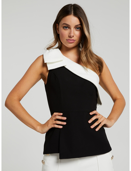 You're Invited One Shoulder Top by Portmans