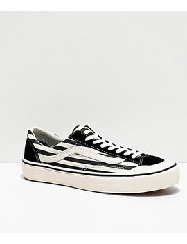 Vans Style 36 Sf Black & Marshmallow Stripe Skate Shoes by Zumiez