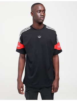 Adidas Ts Trefoil Tee Black/Red by Adidas