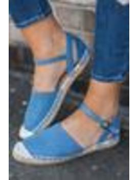 Associated Class Espadrille Flats, Denim Blue by The Mint Julep Boutique