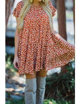 Preorder Feeling Wild Babydoll Dress    Rust by Hazel & Olive