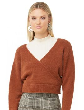 Brushed Surplice Jumper by Forever 21