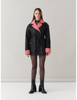 G.E.M. Pitstop Pea Coat by Lazy Oaf