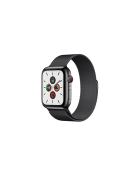 Apple Watch Series 5 Gps + Cellular, 44mm Space Black Stainless Steel Case With Space Black Milanese Loop by Apple