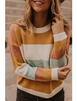 Aisling Stripe Sweater by Roolee