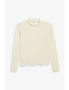 Dotted Velvet Turtleneck by Monki