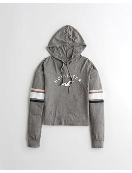 Stripe Hooded Graphic Tee by Hollister