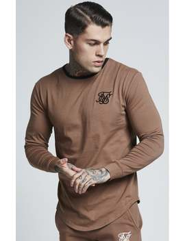 Sik Silk L/S Ringer Gym Tee – Tan by The Sik Silk