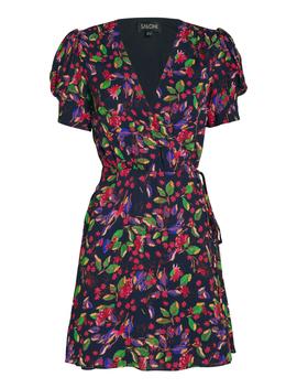 Lea Silk Floral Wrap Dress Lea Silk Floral Wrap Dress by Saloni Saloni