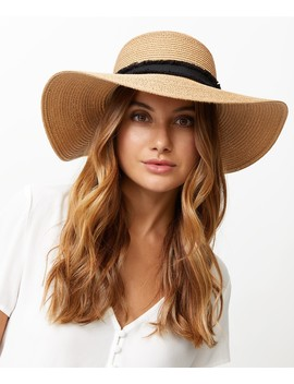 Raw Edge Trim Floppy Hat by Sportsgirl