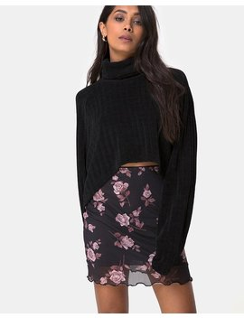 Kinnie Mini Skirt In Dusky Rose By Motel by Motel