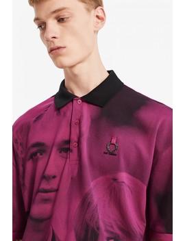 raf-simons-chemise-oversize-en-piqué-À-imprimé-numérique by fred-perry